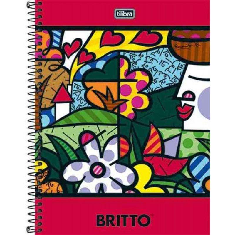 Caderno Universitário Romero Britto 1x1 Espiral Capa Dura - 96 Folhas - Tilibra