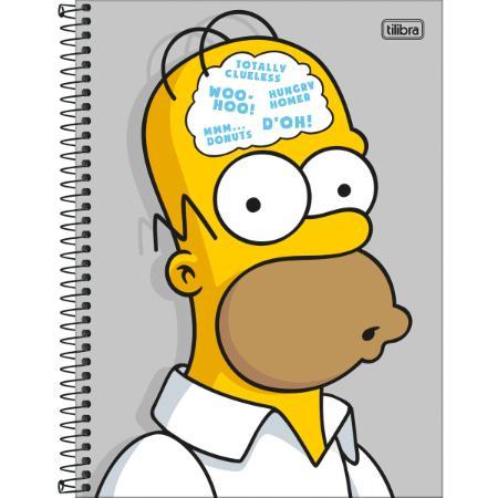 Caderno Universitário Simpsons 1x1 Espiral Capa Dura - 80 Folhas - Tilibra