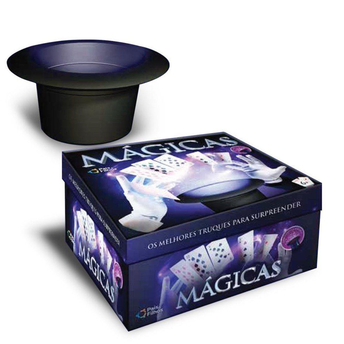 Caixa de Mágicas Infantil com Cartola - 30 Truques - Pais e Filhos