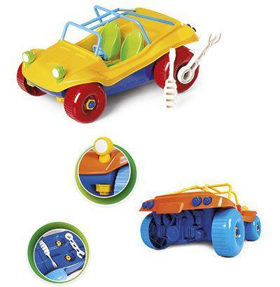 Carro Bugy Didático Roda Livre Colors com Ferramentas - Poliplac - Cor: Sortido
