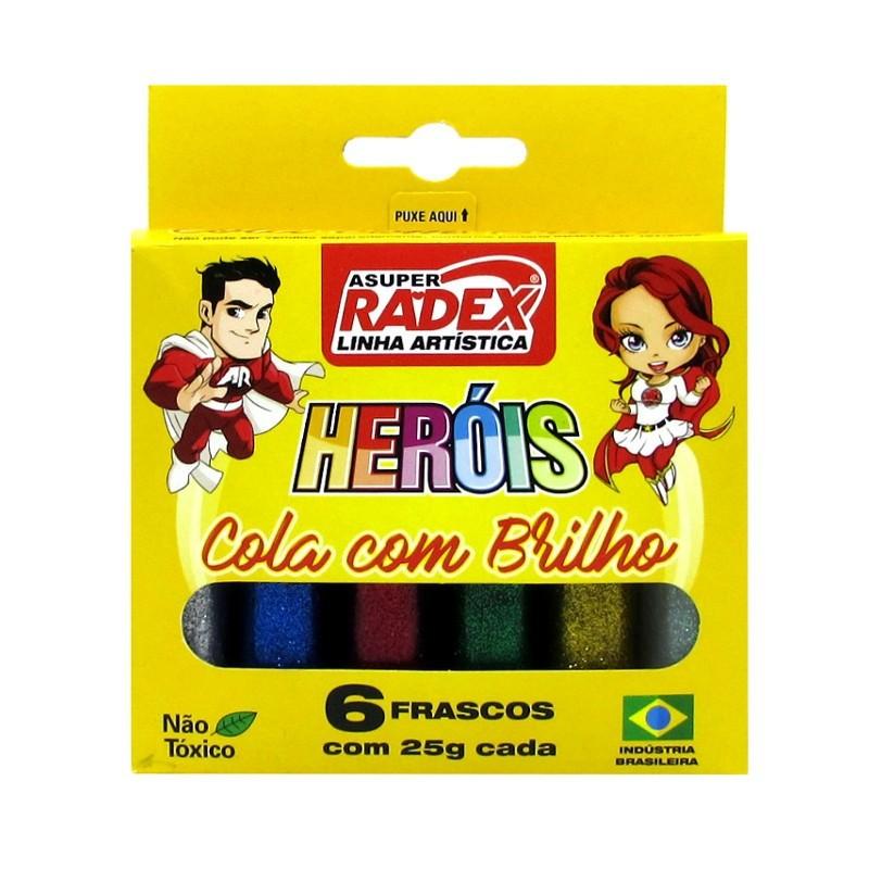 Cola Glitter 6 Cores Radex