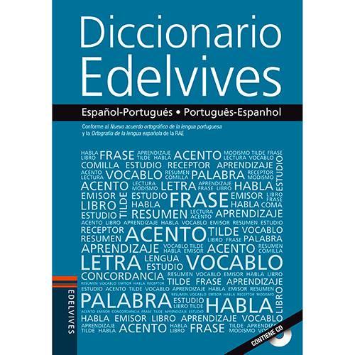 DICIONARIO ESPANHOL/PORT EDELVIVES - FTD - COM CD