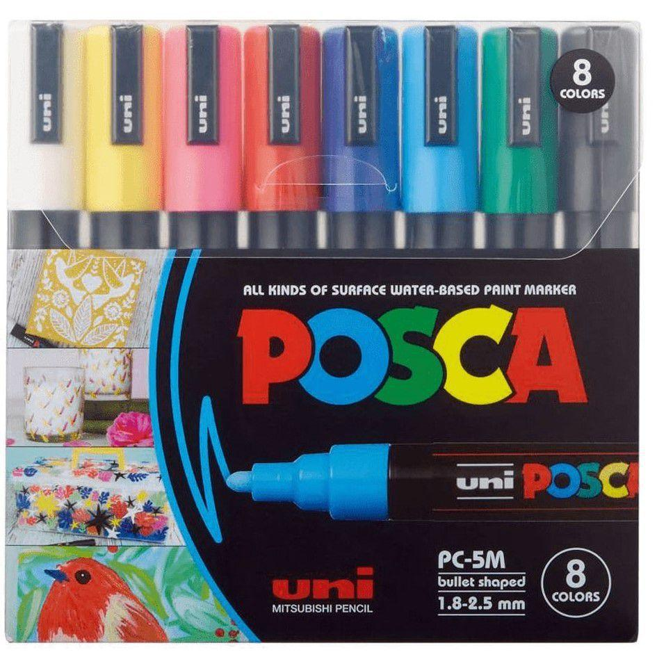 Estojo Caneta Posca PC-5m 8 cores
