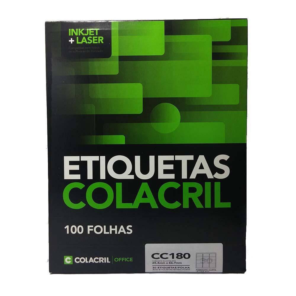 ETIQUETAS  C/100 FLS  - COLACRIL