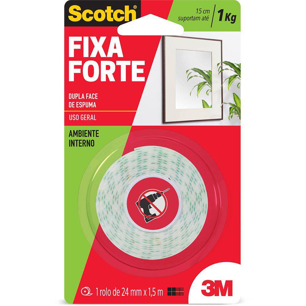 Fita Dupla Face Fixa Forte  3M -  24X1,5M