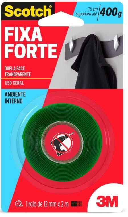 FITA FIXA FORTE  SCOTCH 3M     19MM X 2M - AMBIENTE INTERNO