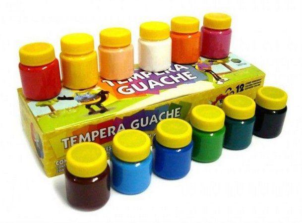 Guache Com 12 Cores - Acrilex