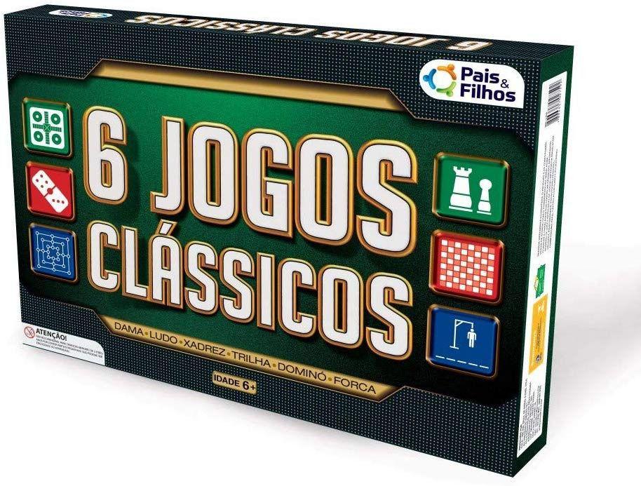 Jogo 6 Jogos Clássicos  - Pais e filhos