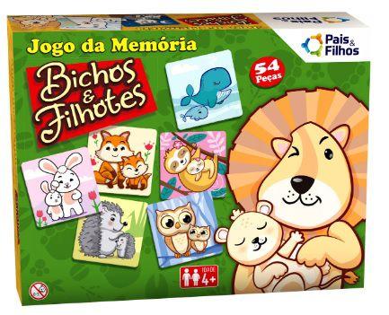 Jogo da memória - Bichos e filhotes - Pais & Filhos