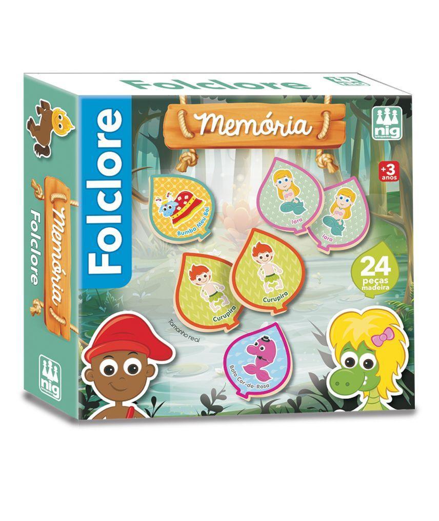 Jogo da Memória Folclore - Nig Brinquedos