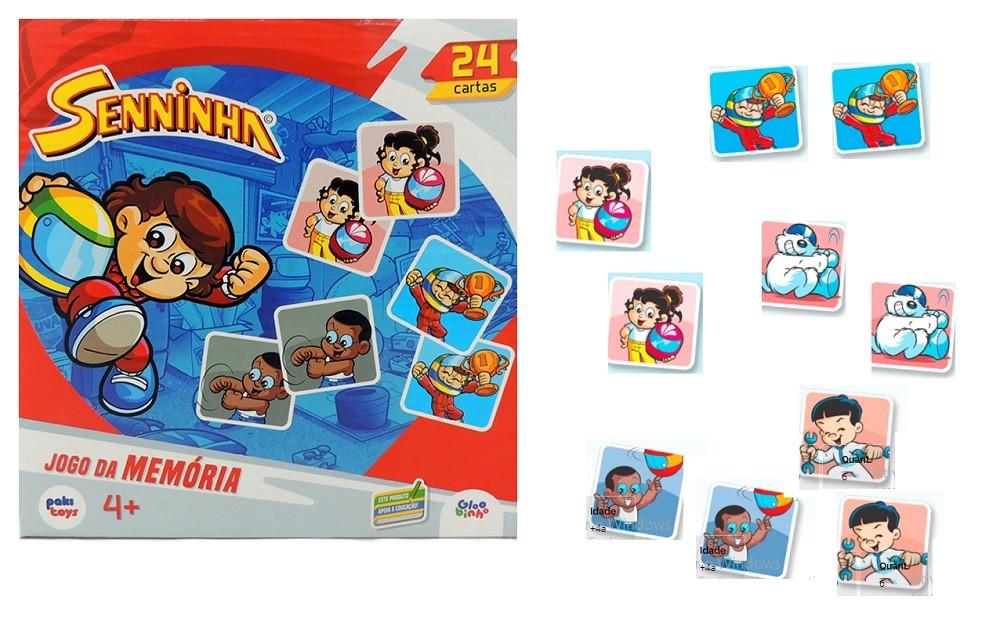 Jogo da Memória Senninha com 24 cartas - Paki Toys