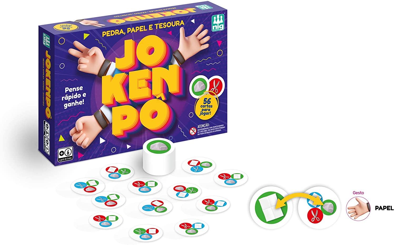 Jogo de Cartas Jokenpô - Nig Brinquedos