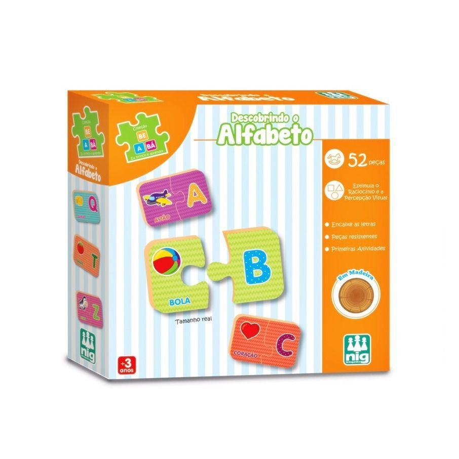 Jogo de Encaixe Descobrindo o Alfabeto - Nig Brinquedos