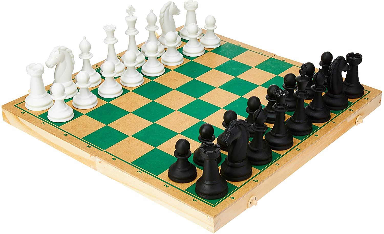 Jogo de Xadrez Oficial Caixa em Madeira 40 Cm - Pais & Filhos