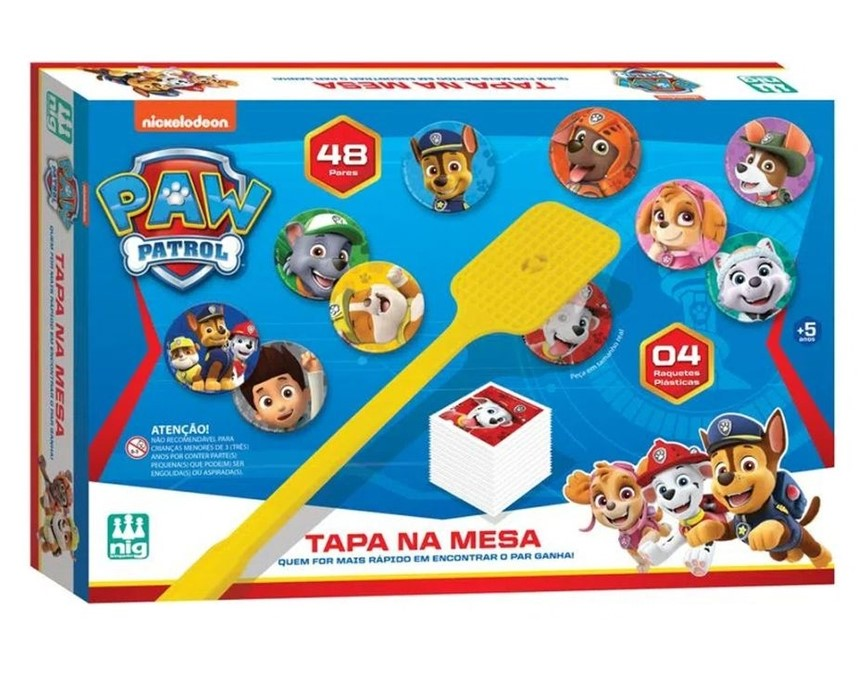 Jogo Tapa na Mesa Patrulha Canina - Nig Brinquedos