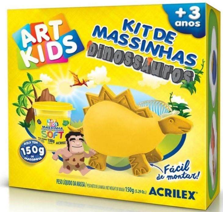 Kit de Massinhas - Dinossauros - Pequeno - Acrilex