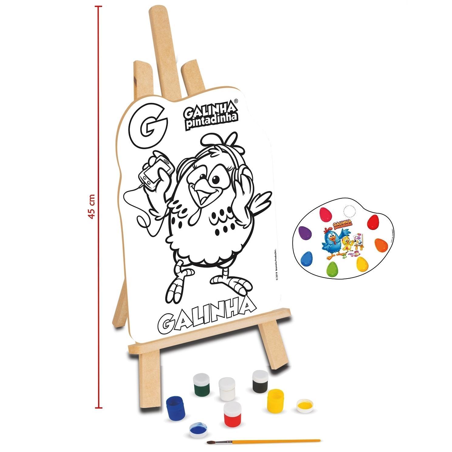 Kit de Pintura Galinha Pintadinha Em Madeira - Nig Brinquedos