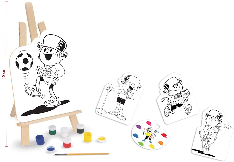 Kit de Pintura Menino Maluquinho Em Madeira - Nig Brinquedos