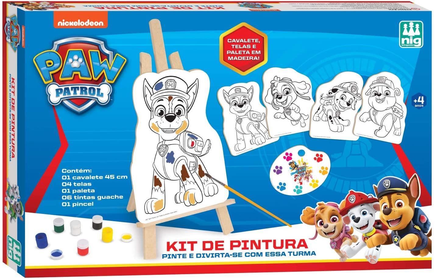 Kit de Pintura Patrulha Canina Em Madeira - Nig Brinquedos