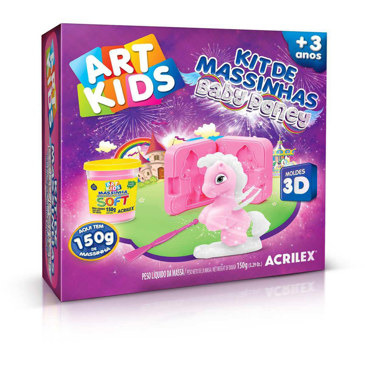Kit Massinha Baby Poney 150g Art Kids - Acrilex