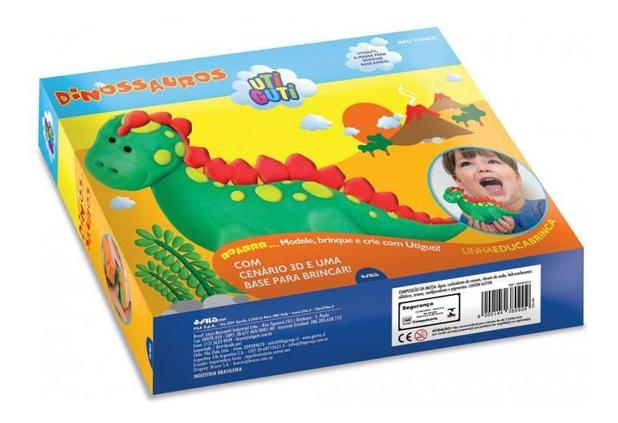 Kit Massinha Para Modelar Uti Guti Dinossauros