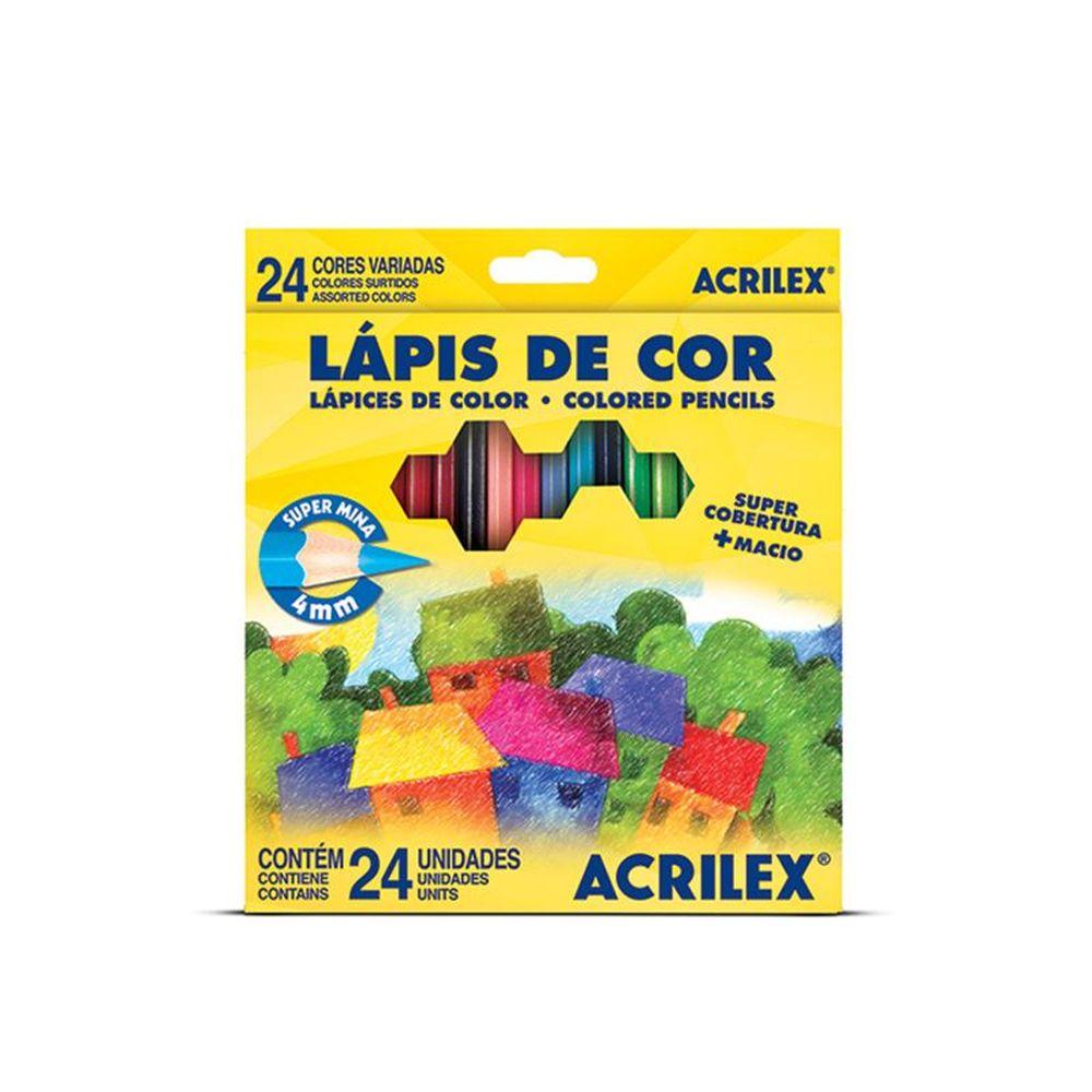 LÁPIS DE COR 24 CORES ACRILEX