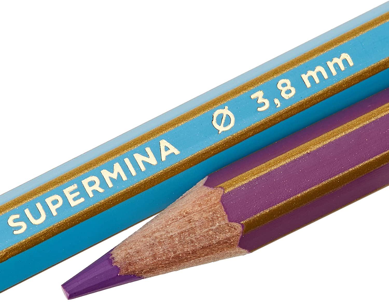 Lápis de Cor Giotto Supermina com 36 cores