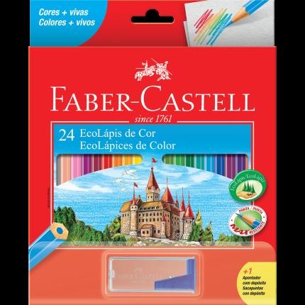 Lápis de Cor Sextavado Faber Castell 24 Cores