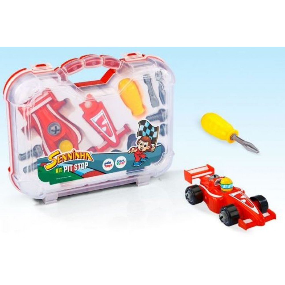 Maleta Kit Pit Stop Senninha - Paki Toys