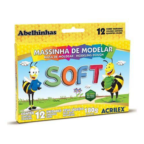 Massa Modelar Soft 12 Cores  -  Acrilex