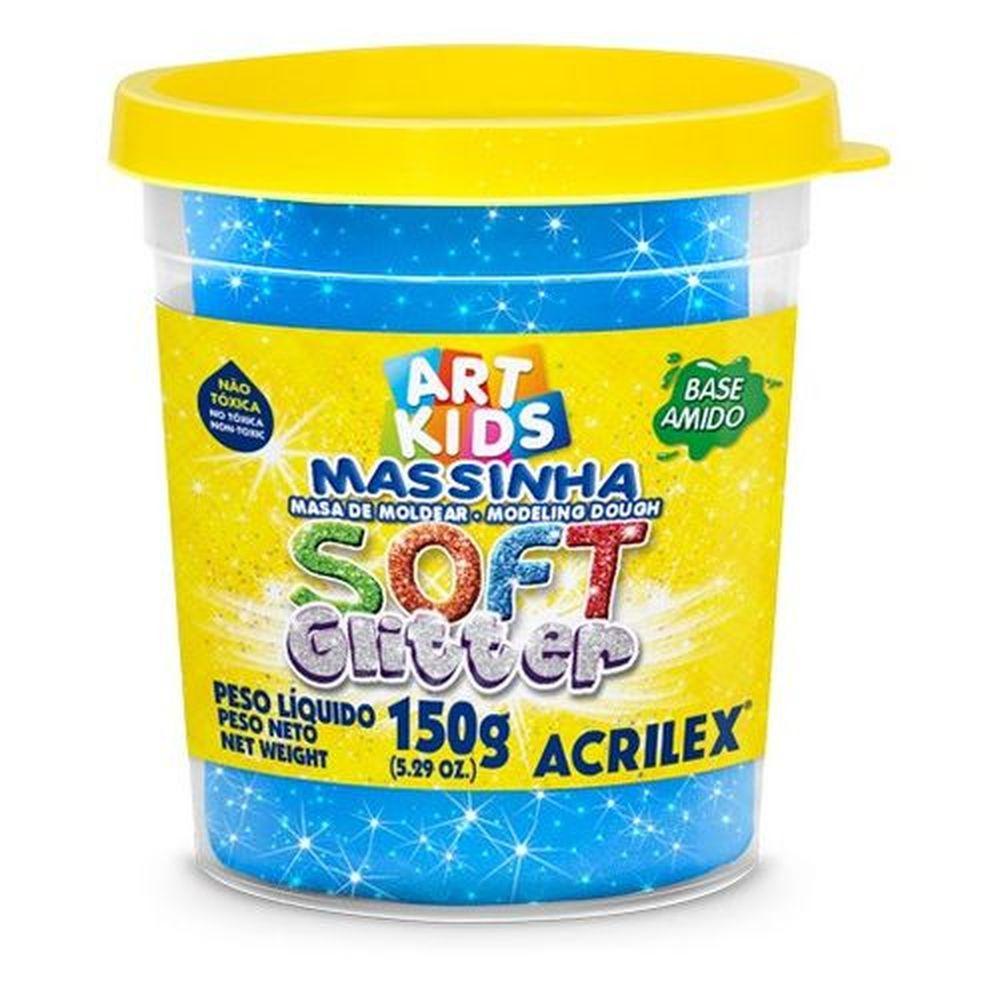 Massinha Soft Glitter Caixa 6 Cores Sortidas Acrilex