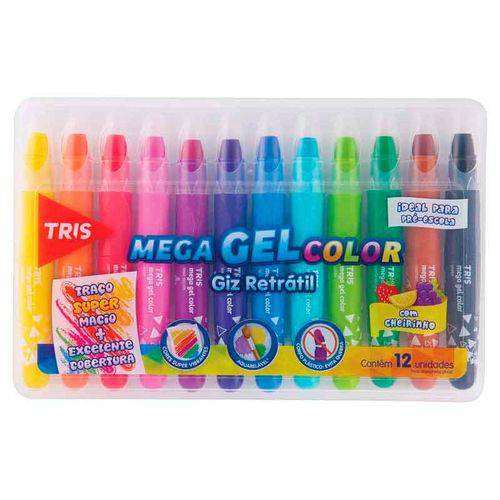 Mega Gel Color Giz Retrátil - Tris