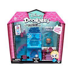 Mega Playset - Disney - Doorables -  3 Cenários - DTC