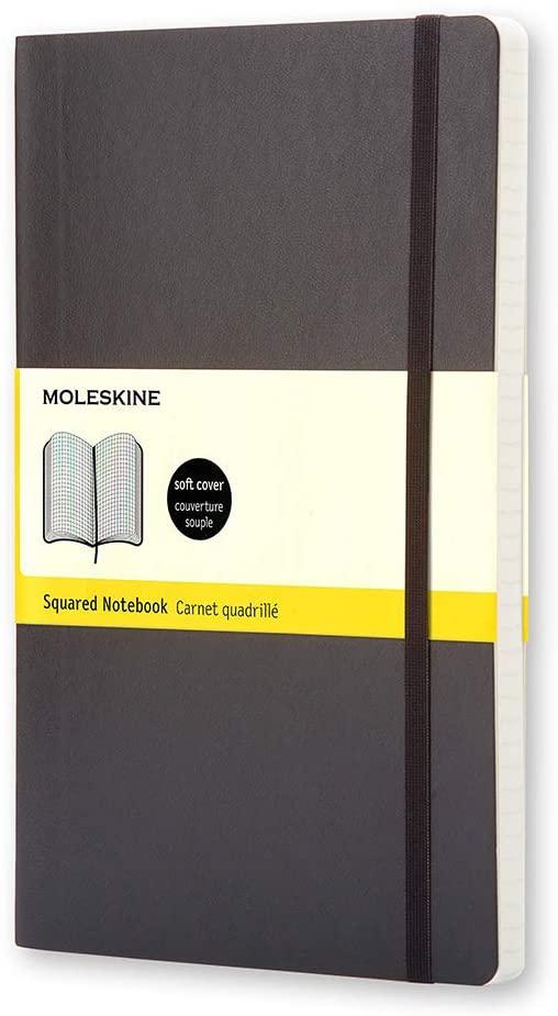 Moleskine - Caderno Clássico, Quadriculado, Preto, Capa Flexível, Tamanho Bolso