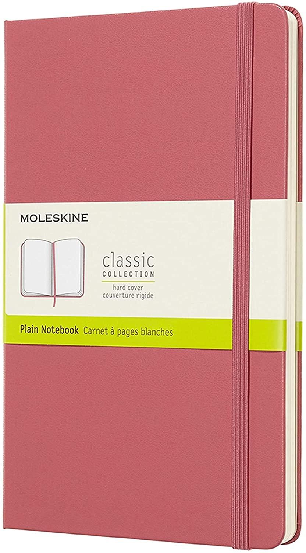 Moleskine - Caderno Clássico, Sem Pauta, Rosa Margarida, Tamanho Grande