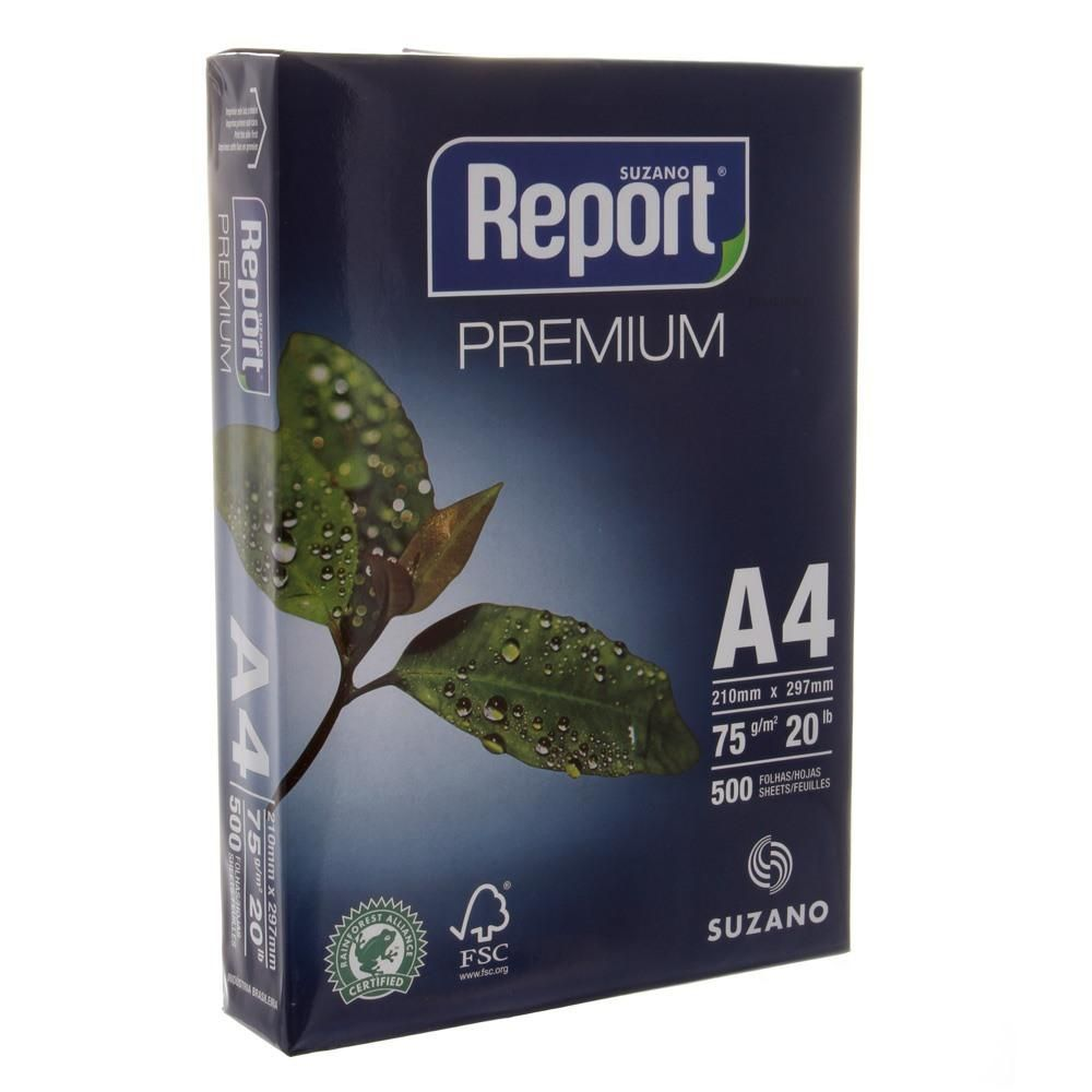 PAPEL SULFITE A4 210X297 500F REPORT PREMIUM