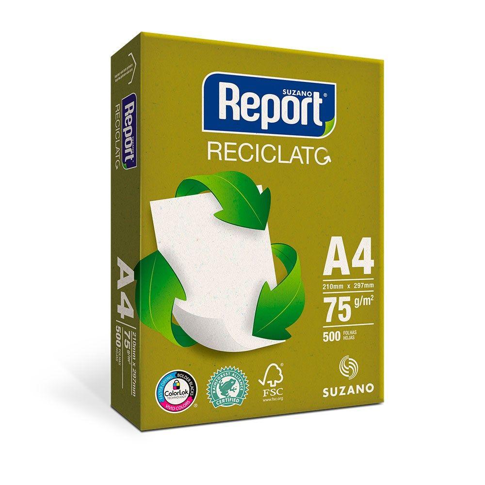 PAPEL SULFITE A4 RECICLATO 500F REPORT