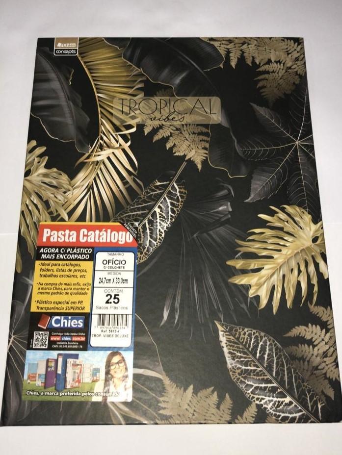 Pasta Catálogo Ofício c/ 25 Sacos Plásticos - Chies