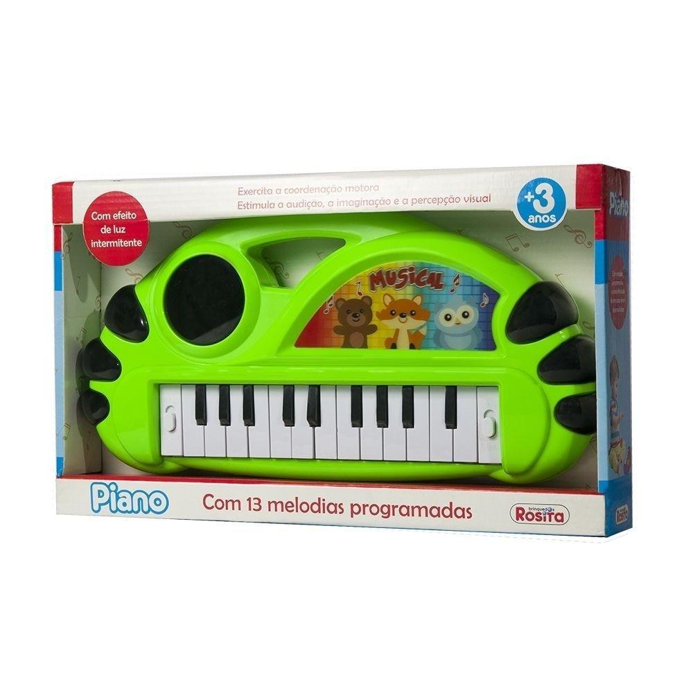 Piano com 13 melodias e luzes intermitentes - Rosita