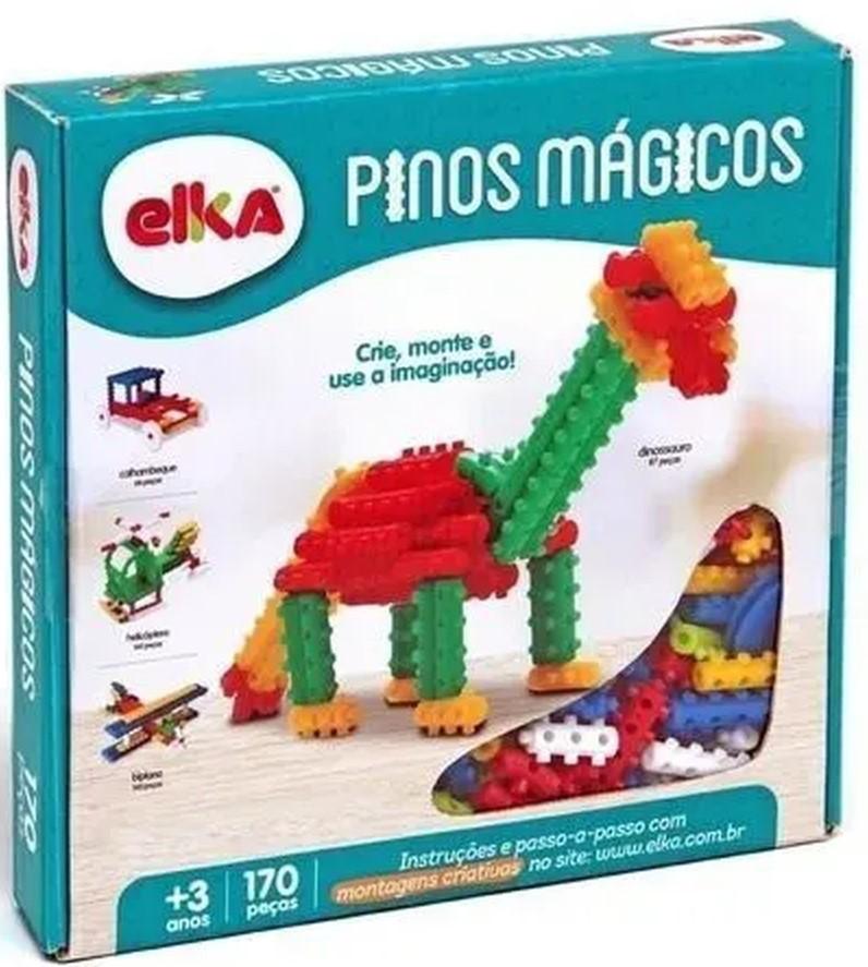 Pinos Mágicos - Blocos De Montar - C/ 170 Peças - Elka