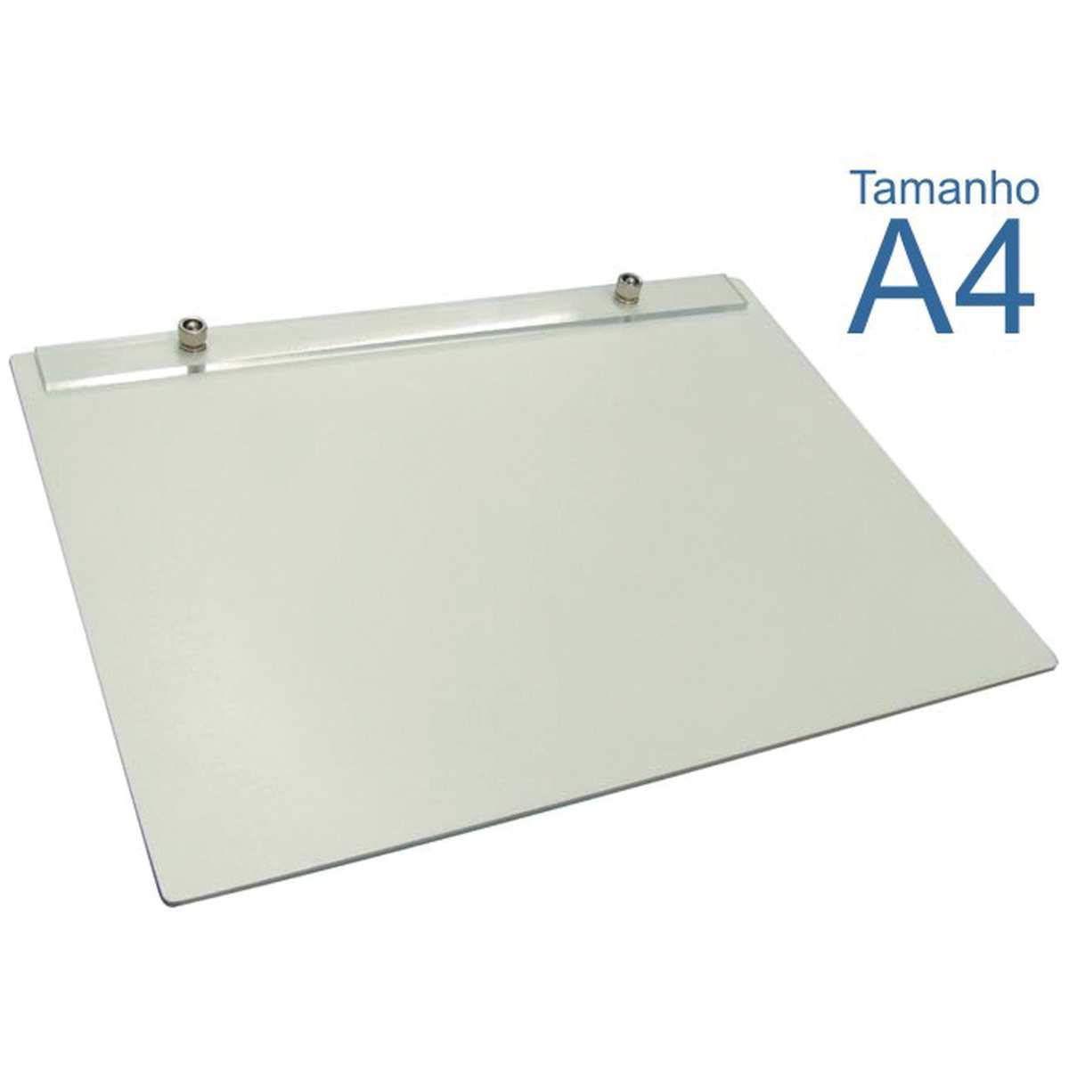 Prancheta Portátil em Fórmica Branca com 3 mm de Espessura, Trident 48-A4F, Branco, Formato A4