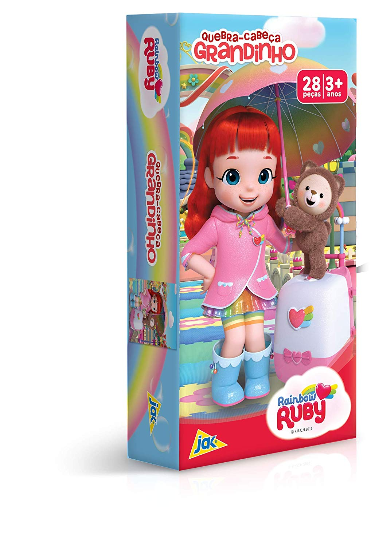 Quebra-Cabeça 28 Peças Grandinho Rainbow Ruby Toyster