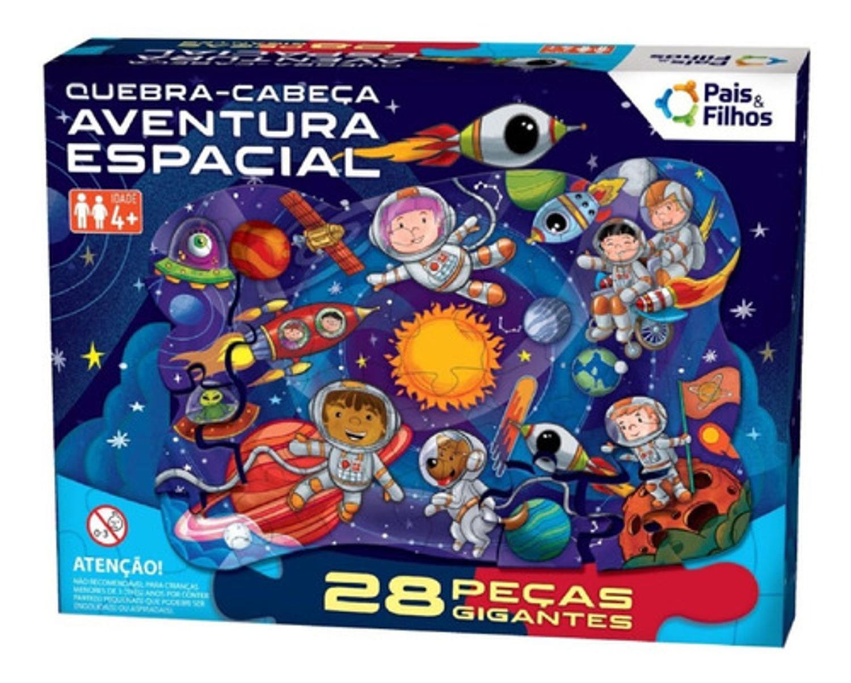 Quebra-Cabeça - Aventura Espacial 28 Peças Gigantes Premium- Pais & Filhos