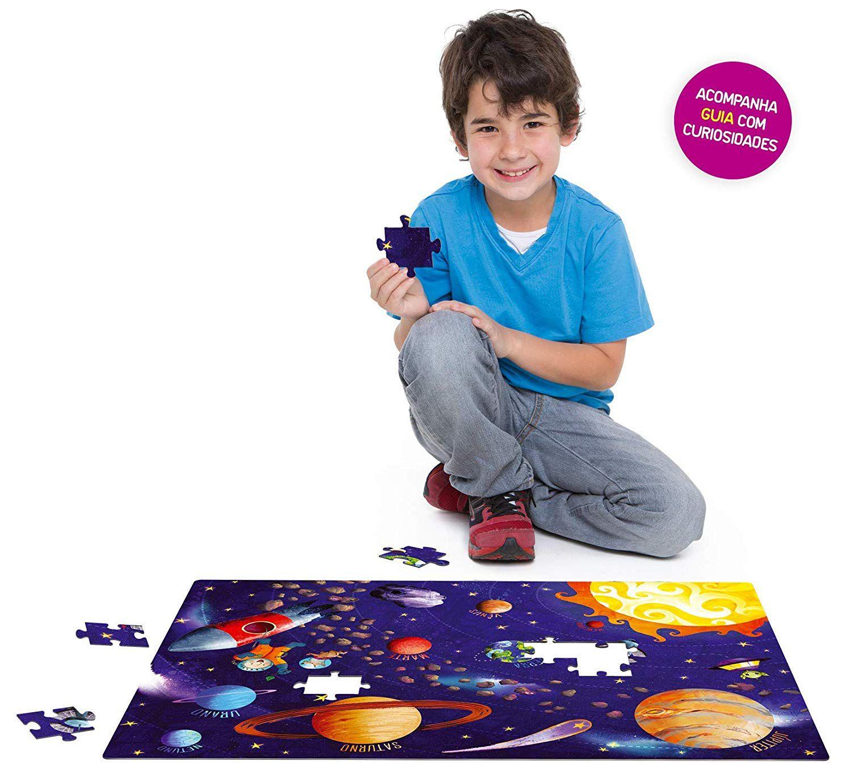 Quebra-cabeça de chão 120 Peças - Conhecendo o Sistema Solar - Toyster Brinquedos