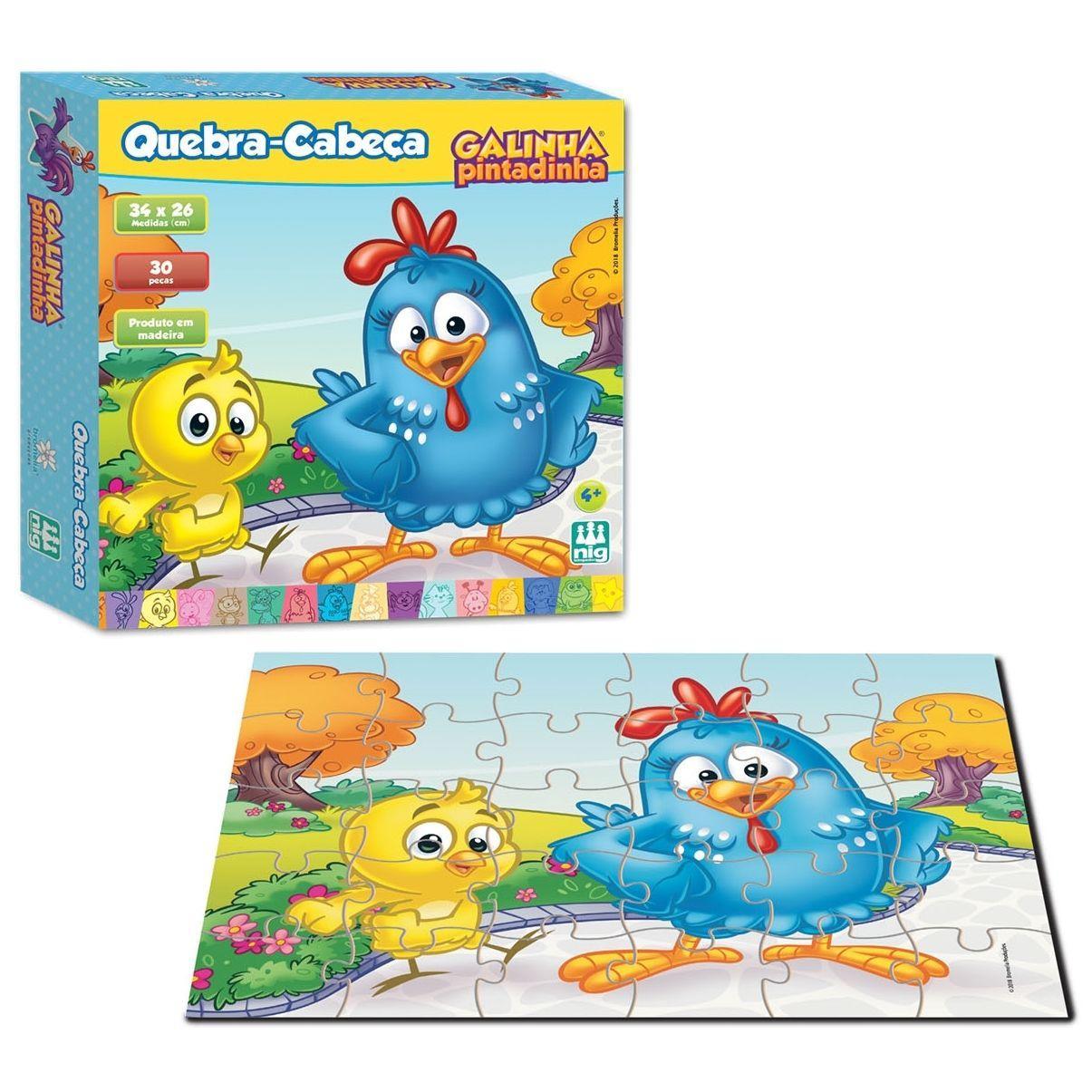 Quebra-Cabeça Galinha Pintadinha Ref 0719 - Nig Brinquedos