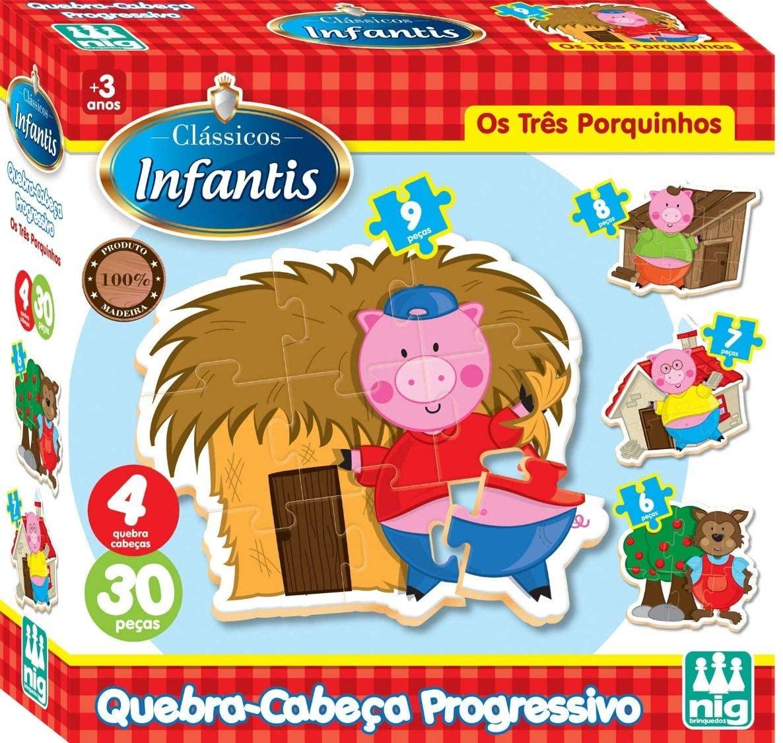 Quebra-Cabeça Progressivo em Madeira - Nig Brinquedos