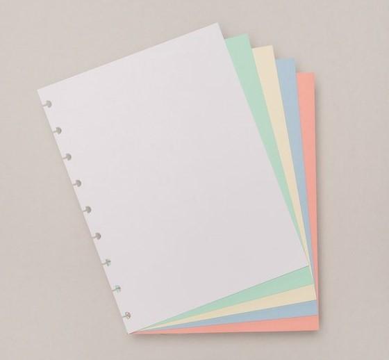 Refil Colorido Caderno Inteligente Grande 80grs- 50fls