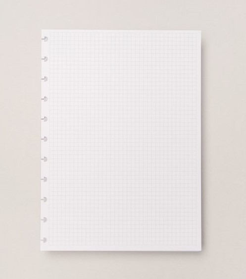 Refil Quadriculado Caderno Inteligente Médio 90grs- 50fls