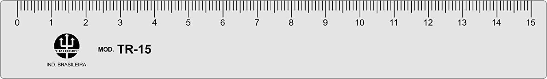 Régua 15 cm, Trident, TR-15, Incolor