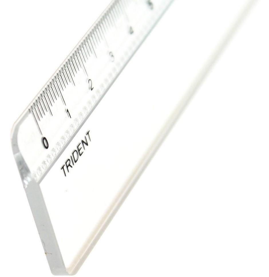 Régua em acrílico 30cm com escala 7130 Trident PT 1 UN
